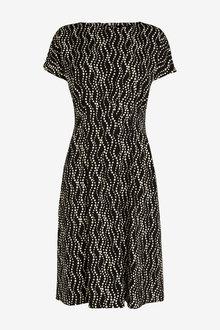 Next Waist Detail Short Sleeve Dress - Tall - 262799