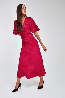 Next Ruched Midi Dress - 262816