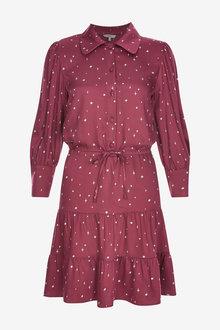 Next Curved Collar Dress - 262820