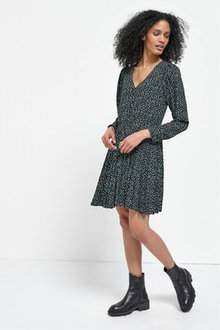 Next V-Neck Pleat Dress - Tall - 262824