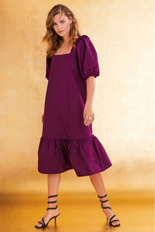Next Taffeta Square Neck Dress - Tall - 262836