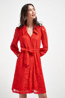 Next Lace Shirt Dress - Tall - 262859