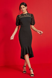 Next Lace Midi Dress - 262860