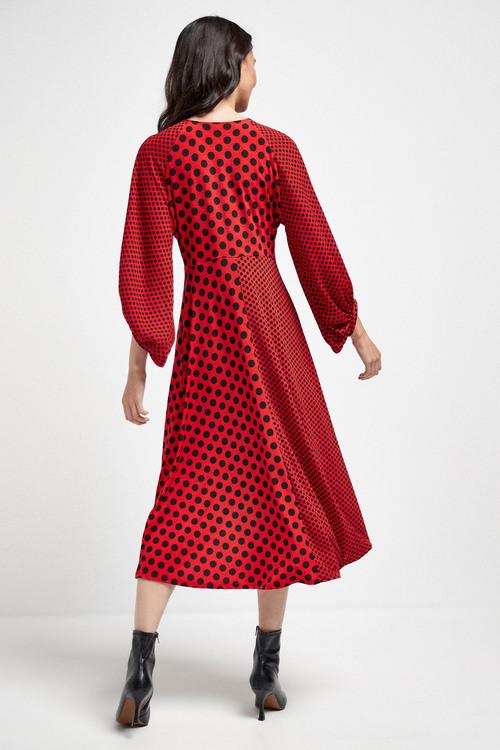 Next Twist Front Midi Dress - Tall