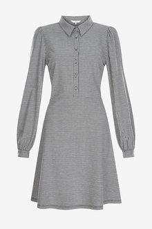 Next Check Jacquard Shirt Dress - 262864