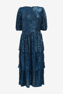 Next Tiered Sequin Midi Dress - 262867