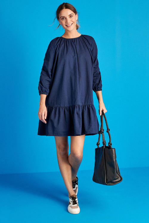 Next Ruched Sleeve Smock Dress - Tall