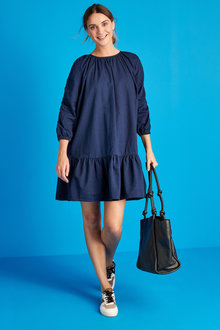 Next Ruched Sleeve Smock Dress - Tall - 262886