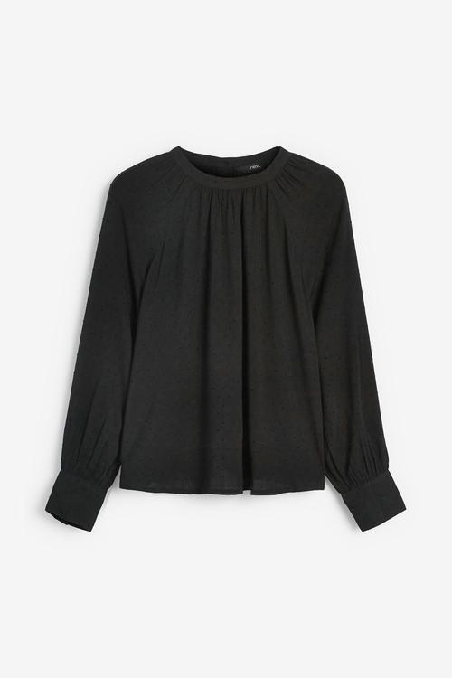 Next Textured Long Sleeve Top