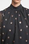 Next Sequin Spot Puff Sleeve Blouse
