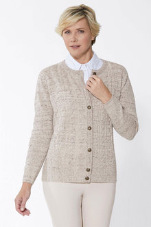 Euro Edit Cable Pattern Cardigan - 262942