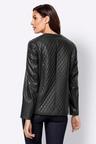 Euro Edit Quilt Look PU Jacket