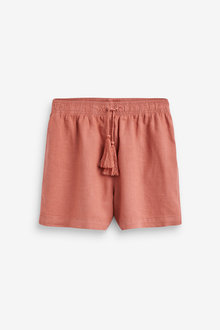 Next Linen Blend Pull-On Shorts - 262958