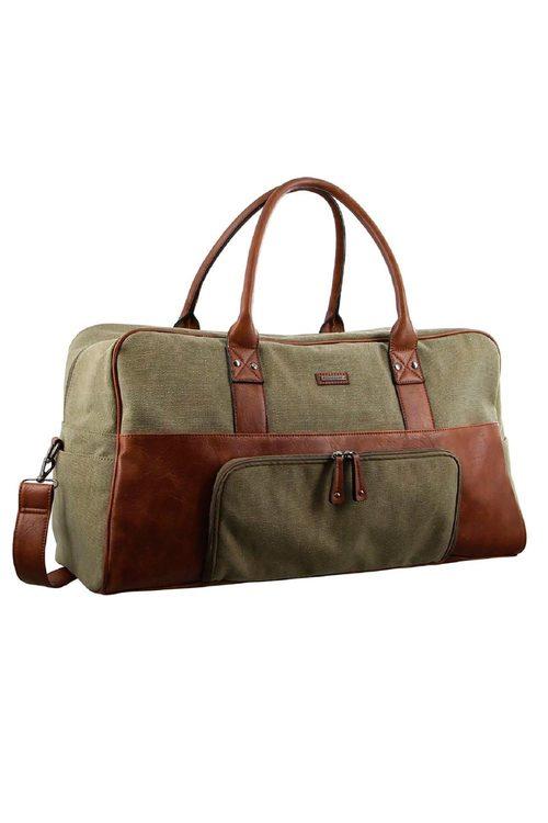 Pierre Cardin 2-tone Canvas Overnight Bag