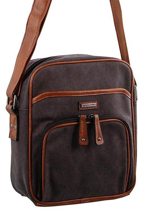 Pierre Cardin 2-tone Canvas Cross-Body Bag