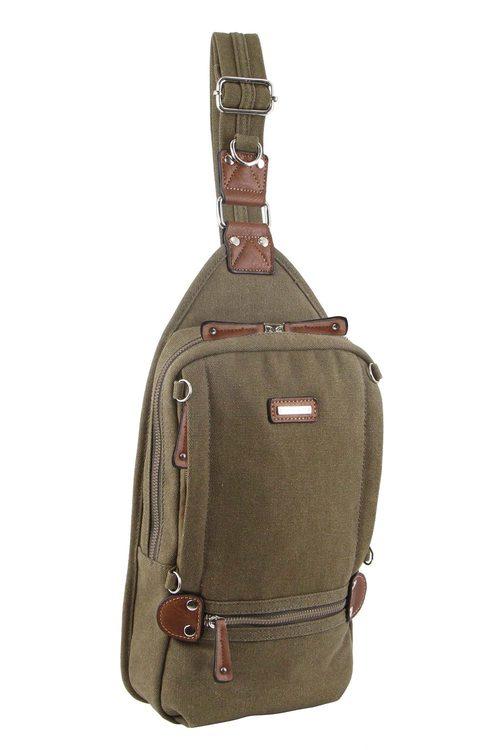 Pierre Cardin Canvas Cross-Body/Sling Bag