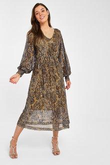 Next Mesh Sequin Dress - 263010
