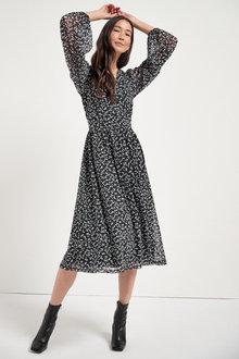 Next Mesh Midi Dress - 263013