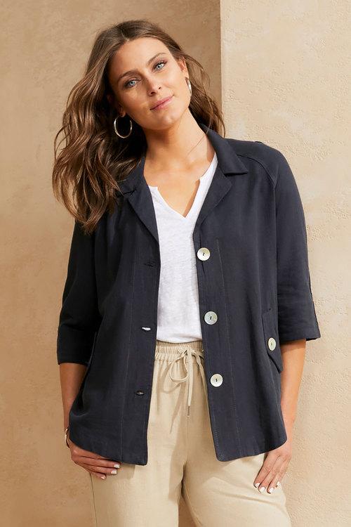 Capture Linen Blend Jacket