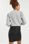 Next Coated Denim Zip Mini Skirt