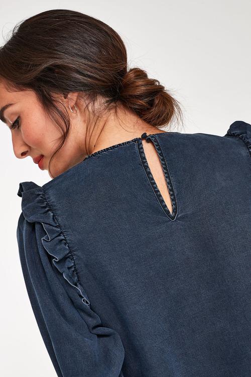 Next Frill Shoulder Detail TENCEL Top