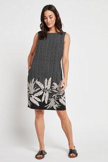 Next Linen Blend Shift Dress - 263068