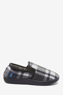 Next Check Closed Back Slippers - 263102