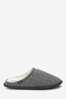 Next Houndstooth Stag Mule Slippers - 263106