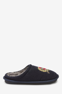 Next Cord Emblem Mule Slippers - 263108