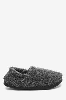 Next Fluffy Closeback Slippers - 263110