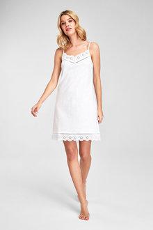 Next Organic Cotton Broderie Slip - 263139