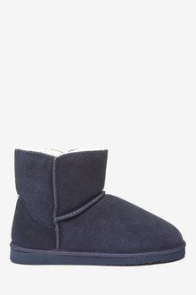 Next Suede Slipper Boots - 263228