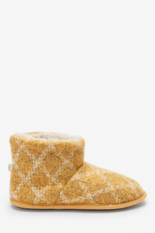Next Check Slipper Boots - 263232