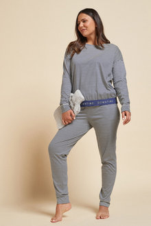 Next Sporty Stripe Cotton Pyjamas - 263264