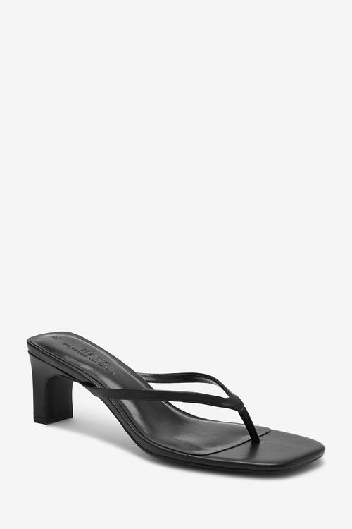 Next Heeled Toe Post Sandals-Regular