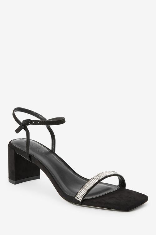 Next Diamante Block Heel Sandals