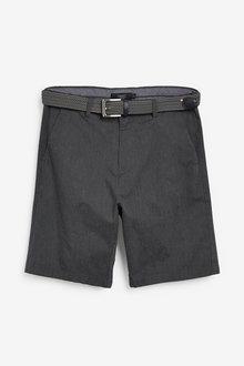 Next Fine Stripe Belted Shorts - 263322