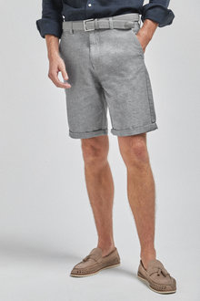 Next Belted Oxford Shorts - 263325