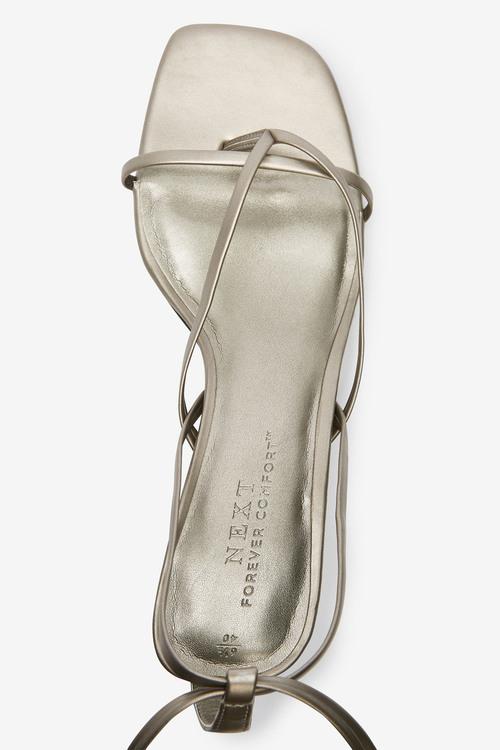 Next Toe Post Ankle Wrap Sandals