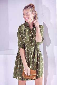 Urban Printed Short Dress - 263348