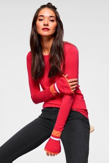 Urban Volant Sleeve Knit Top - 263366
