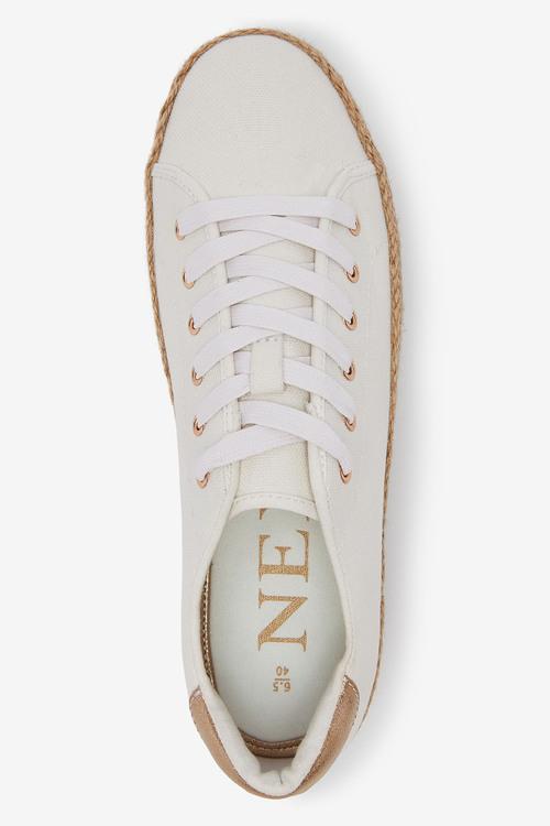 Next Flatform Lace-Up Espadrille Shoes
