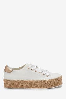 Next Flatform Lace-Up Espadrille Shoes - 263373