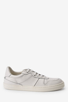 Next Signature Retro Leather Lace-Up Trainers - 263380