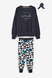 Next Cosy Pyjamas With Scrunchie - 263475