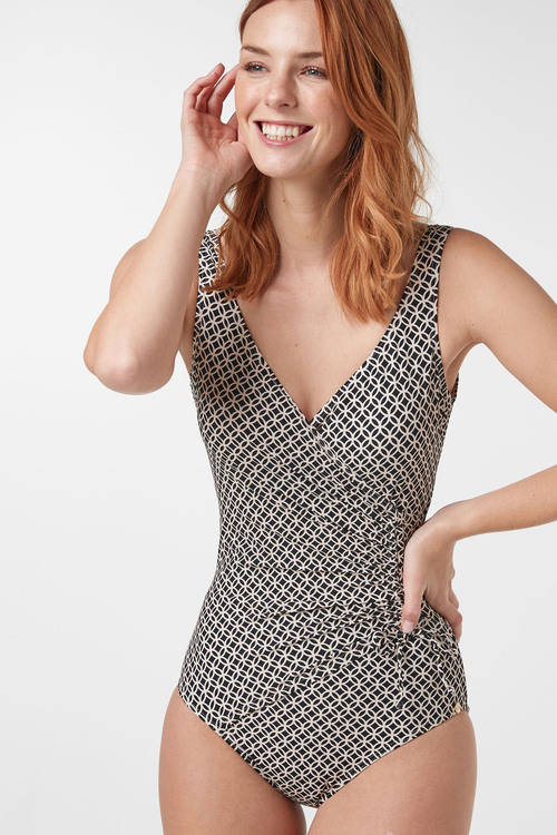 Next Ruched Side Shape Enhancing Swimsuit - Tall