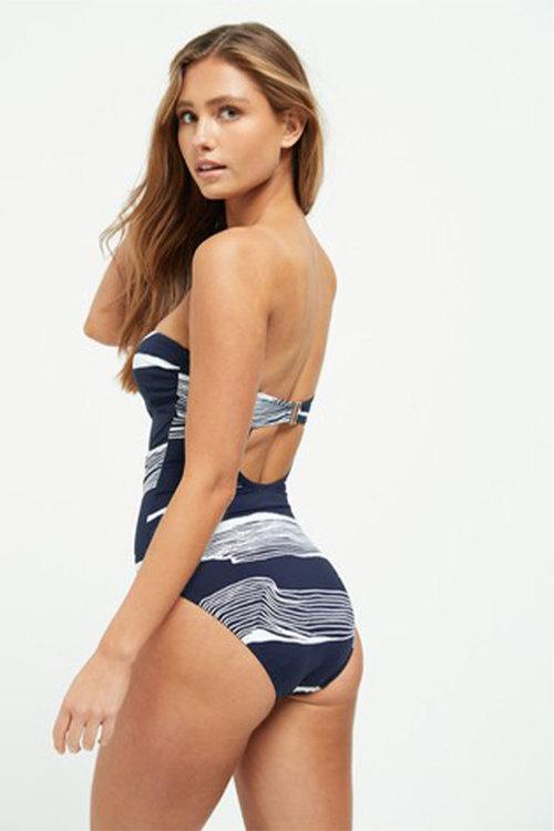 Next Shape Enhancing Placement Print Bandeau Swimsuit