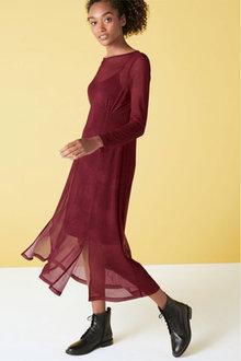 Next Mesh Midi Dress - Tall - 263504