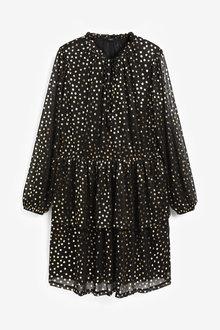 Next Mesh Tiered Mini Dress - 263510