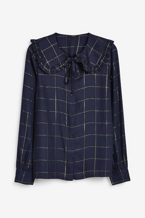 Next Frill Collar Shirt - Tall